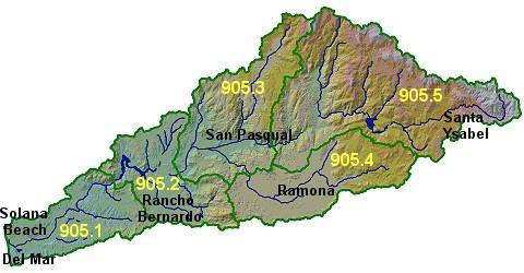 Santa Margarita Topography