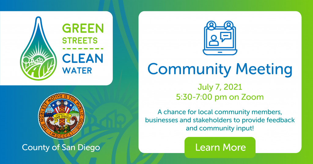 Green Streets Clean Water Public Input Virtual Meeting